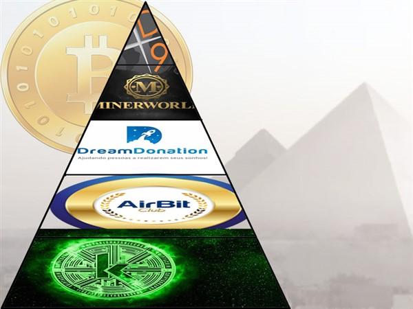 Airbit Club, BitOferta, DreamDonation e Minerworld - essas são algumas empresas que estão usando o termo Marketing Multinível (MMN) oferecendo ganhos absurdos e ilusórios com bitcoins. Não caiam nessa! Essas empresas e muitas outras empresas são piramides financeiras! A D9 e a Kriptacoin já caíram!