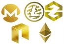 Moedas famosas com um grande valor de mercado também tiveram (têm) uma versão Gold.