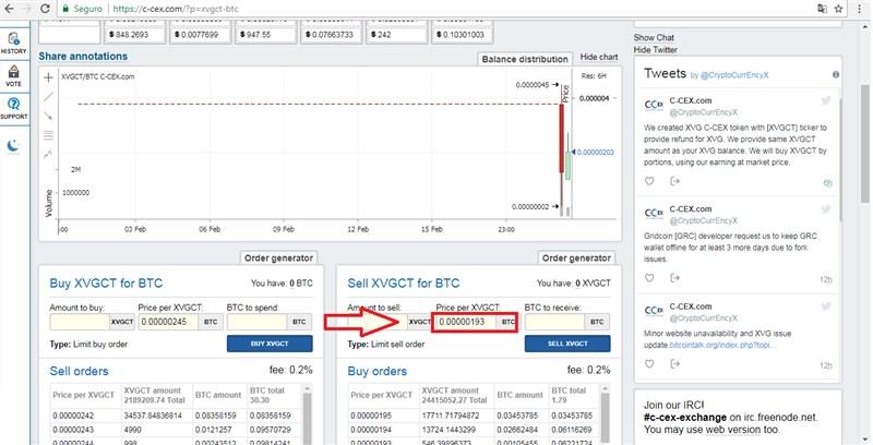 C-cex vendendo a Verge (XVG) bem abaixo do preço de mercado e ainda com a sigla duvidosa (XVGCT) sob a justificativa de reembolsar seus usuários! .