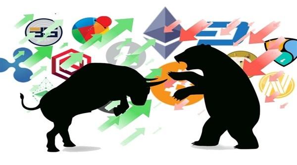 Quais são os significados dos termos: Urso, Touro, Baleias e Tubarões no mercado de criptomoedas?
