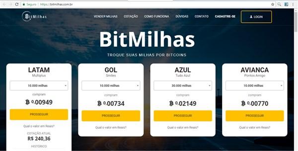 Vender suas milhas aéreas por bitcoin nunca foi tão fácil!