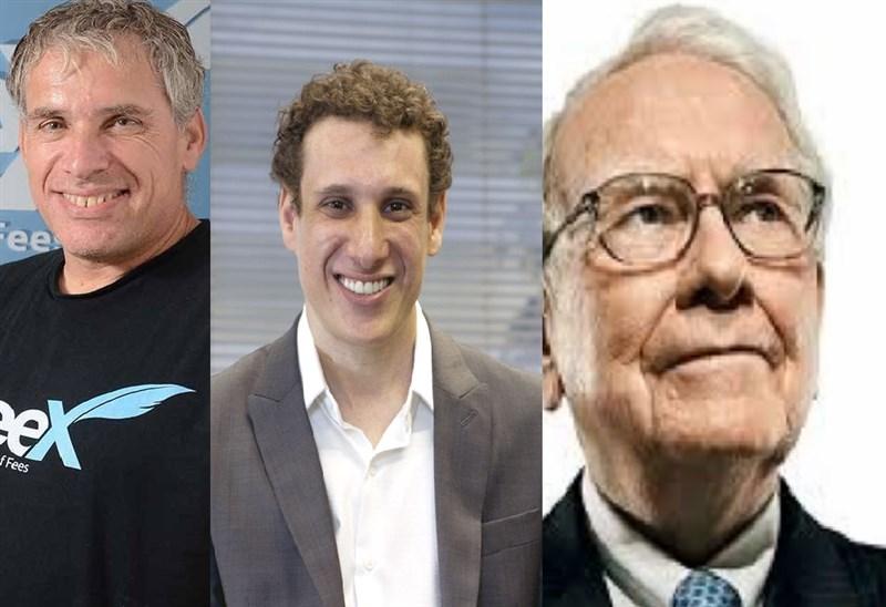Da esquerda para direita os próximos vira-casacas; Uri Levine, Warren Buffett e Samy Dana?