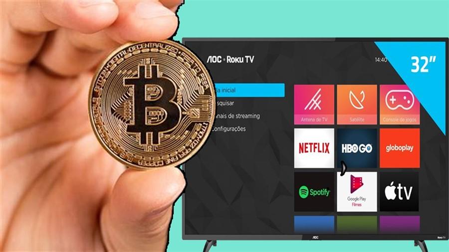 Comprando uma televisão de 32 polegadas com 100 reais com bitcoins!