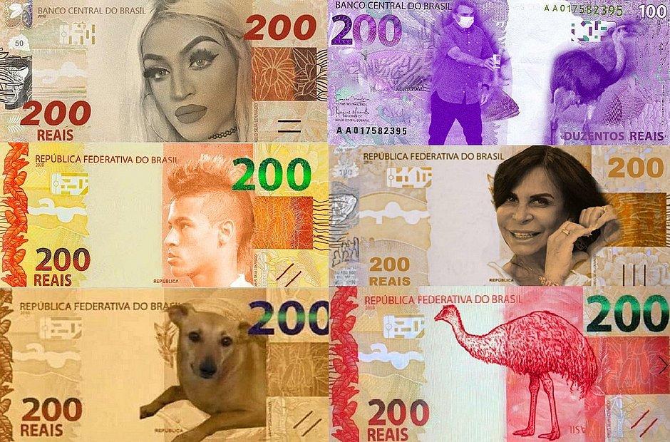 Nota de 200 reais; memes