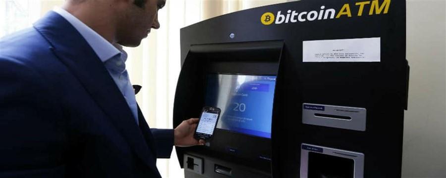 Caixas eletronicos de bitcoins. Foto meramente ilustrativa.