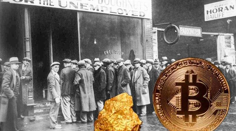 A grande depressão, o Ouro e o bitcoin: O que você precisa saber!