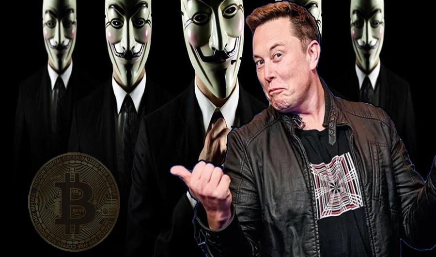 O efeito colateral de Elon Musk no mercado cripto. Grupo Anonymous ameaça Elon Musk