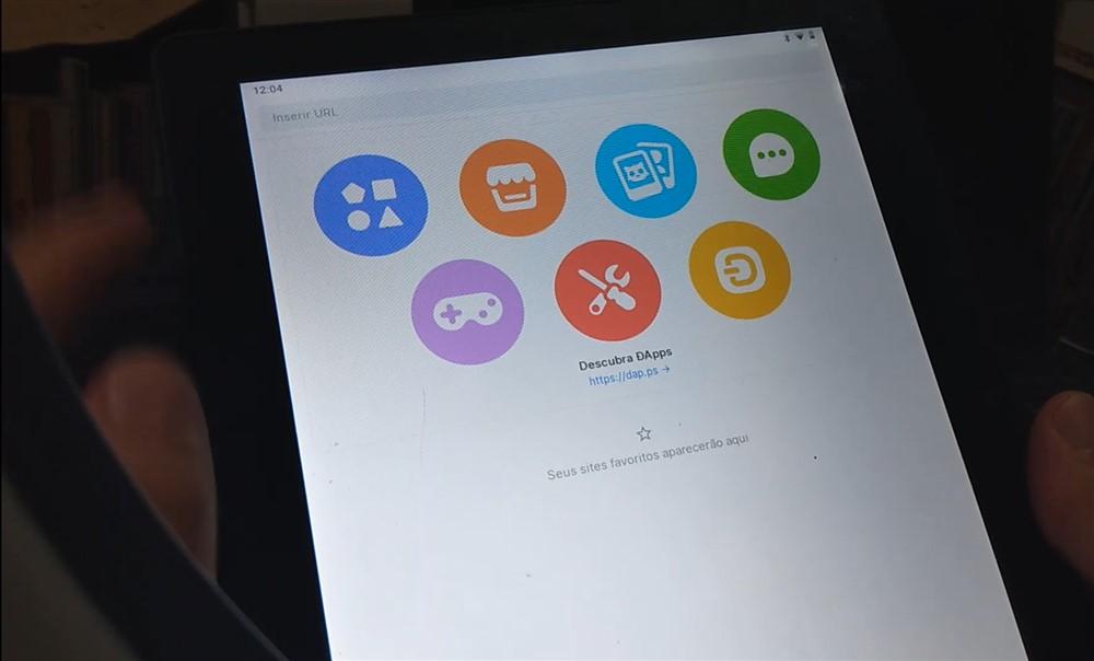 Usando o navegador web no aplicativo Status